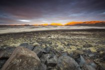 Scenic view of sunset over Lunar Lake Playa, remote central Nevada — Stock Photo