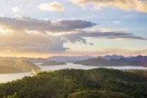 Вид з гори Tapyas вид палубі над Calamian островів, Busuanga острів Палаван, Філіппіни — стокове фото