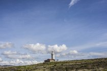 Scenic view of lighthouse on hill in Paphos, Cyprus — Stock Photo