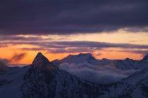 Blick auf Mount Baker Wildnis von Winchester Feuer Lookout In Washington, Usa — Stockfoto