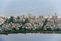 Aerial view of Copacabana in Rio de Janeiro — Stock Photo