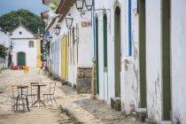 Перегляд чарівного міста Paraty в Costa Verde — стокове фото