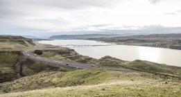 Vista panorâmica do rio Columbia em Washington Oriental — Fotografia de Stock