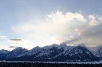Grand Teton National Park During Sunset In Jackson Hole, Wyoming — Stock Photo
