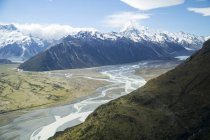 View Of Mount Cook National Park In New Zealand — Stock Photo