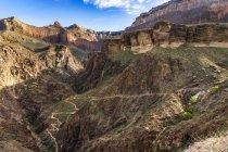 Vista panorâmica da Bright Angel ponto no Parque Nacional do Grand Canyon, EUA — Fotografia de Stock
