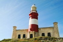 Cape Agulhas Lighthouse On The Southern Tip Of Africa — Stock Photo
