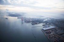 Вид з Ванкувера гавані у Ванкувері, Британська Колумбія, Канада — стокове фото