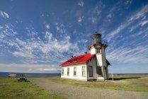 Cabrillo Point Leuchtturm und dem Pazifischen Ozean In Kalifornien — Stockfoto