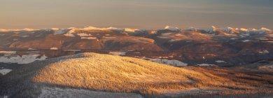 Vista do sol da grande montanha branca, Colúmbia Britânica, Canadá — Fotografia de Stock