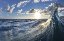 Two waves colliding in early morning light of dawn, East side of Oahu, Hawaii, USA — Stock Photo