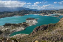 Vista panoramica della Laguna Verde, Chile Chico, Provincia di General Carrera, Cile — Foto stock