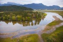Повітряна фотографія Пітт річки, Британська Колумбія, Канада — стокове фото