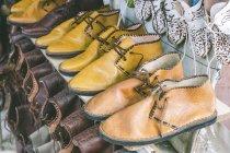 Деталь ручної роботи Марокканський взуття, Медіна, Марракеш, Марокко — стокове фото