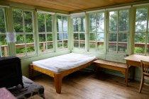 Innenraum der Tourist Lodge im Willamette National Forest, Fall Creek, Oregon, Usa — Stockfoto