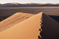 Bela paisagem natural da Duna 45 perto de Sossusvlei, o deserto do Namibe, Namíbia — Fotografia de Stock