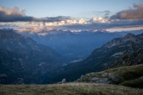 View of mountains in Devero Valley, in the hearth of italian Alps. Piemonte, Italy — Stock Photo