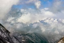 Landscape Of Mountains On A Cloudy Day As Seen From Simplonpass — Stock Photo