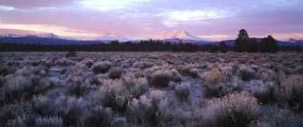 Three Sisters Are A Complex Volcano Of Three Volcanic Peaks Of The Cascade Volcanic Arc — Stock Photo