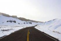 Route d'hiver dans l'Utah — Photo de stock