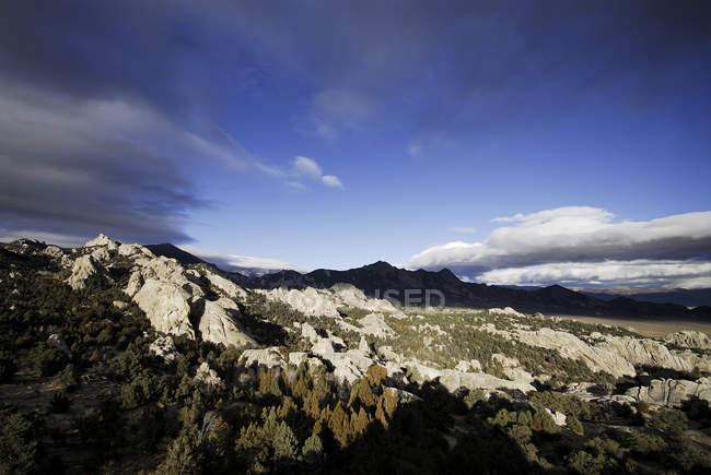 Blick auf eine Vally in der City of Rocks, Idaho — Stockfoto