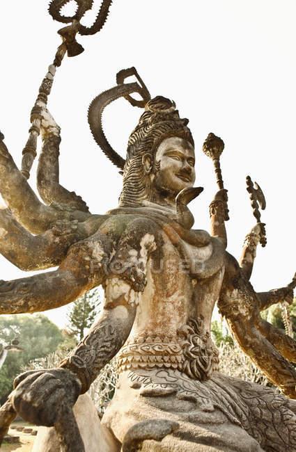 Concrete statue in Buddha Park, Xieng Khuan, Vientiane, Laos — Stock Photo