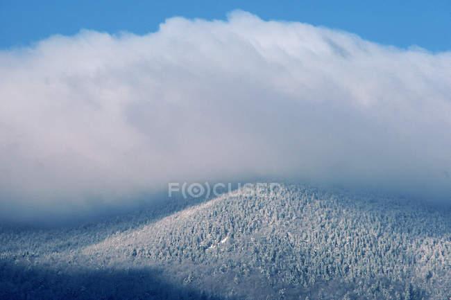 Живописный вид на зимние сцены Mooselookmeguntic озера региона — стоковое фото