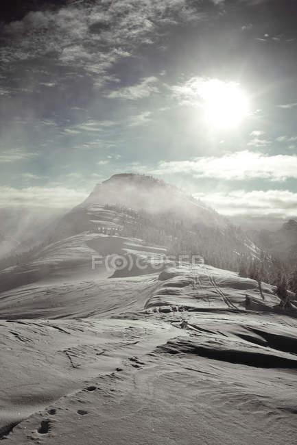 Пейзаж, глядя на пик Zupjok, Британская Колумбия, Канада — стоковое фото