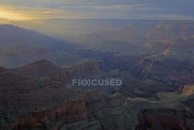 Pôr do sol, ponto de Moran, Parque Nacional do Grand Canyon, Arizona — Fotografia de Stock