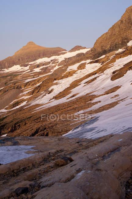 Альпийский на Mt Логан в Национальный парк ледника в Джексон ледник вблизи Восточного ледник, Монтана — стоковое фото