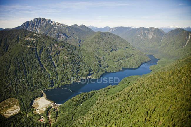Depósito de agua potable de Seymour, Vancouver, Bc, Canadá - foto de stock
