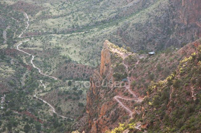 Три мили привал, светлый Ангел след, Саут-Рим, Национальный парк Гранд-Каньон, Аризона — стоковое фото