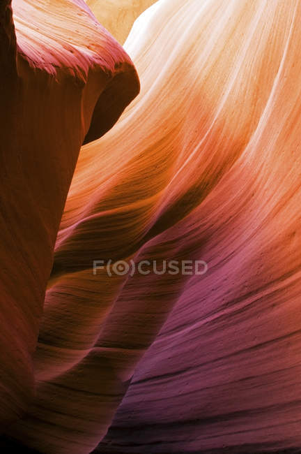 Rock formations of Antelope Canyon — Stock Photo