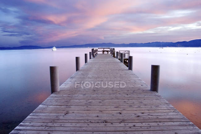 Rive ouest de Lake Tahoe — Photo de stock