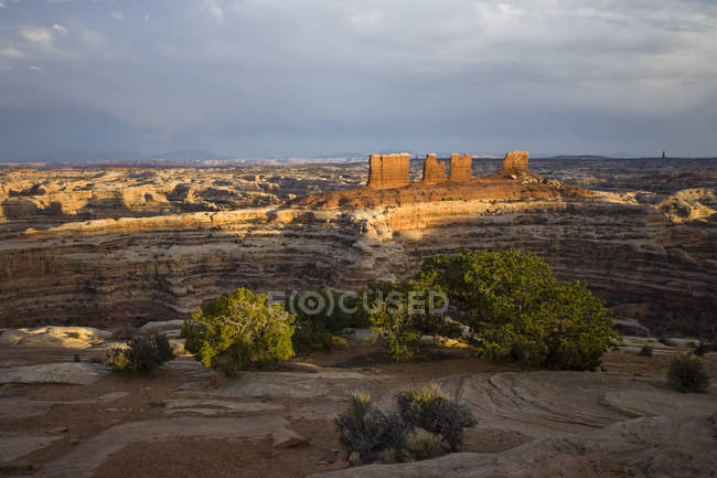 View into the Maze from the Maze Overlook Campground, Canyonlands National Park, Utah — Stock Photo
