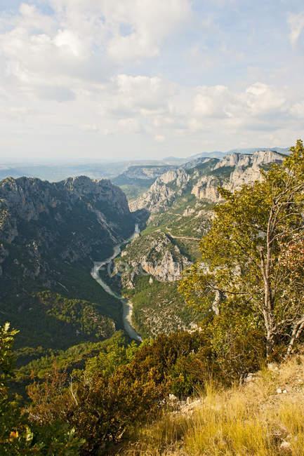 Anzeigen der Verdon-Schlucht in Südfrankreich — Stockfoto
