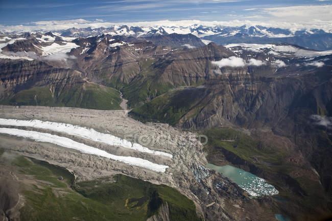 Vista da paisagem de Wrangell-St Elias National Park, Alasca — Fotografia de Stock