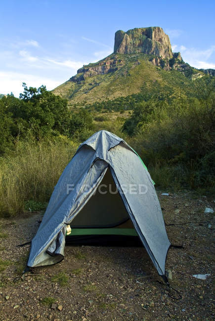 Malerische Aussicht auf camping Zelt in Big Bend Nationalpark, Texas — Stockfoto