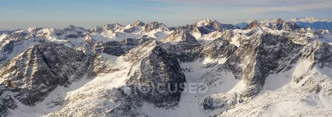 Vista aérea das montanhas do deserto de Weminuche — Fotografia de Stock