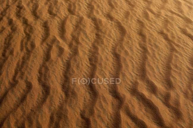 Vista aérea da areias dunas deserto de Dubai, Dubai, Emirados Árabes Unidos, Médio Oriente — Fotografia de Stock