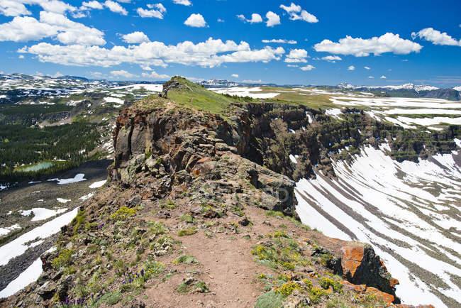 Chaussée du diable dans le désert plat Tops de Yampa, Colorado. — Photo de stock