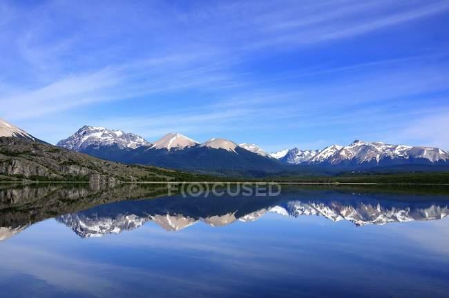 Ruhigen, beschaulichen Tag am See im Tres Valles, Argentinien — Stockfoto