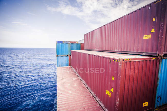 Container ship in the Red Sea south of the Suez Canal — Stock Photo