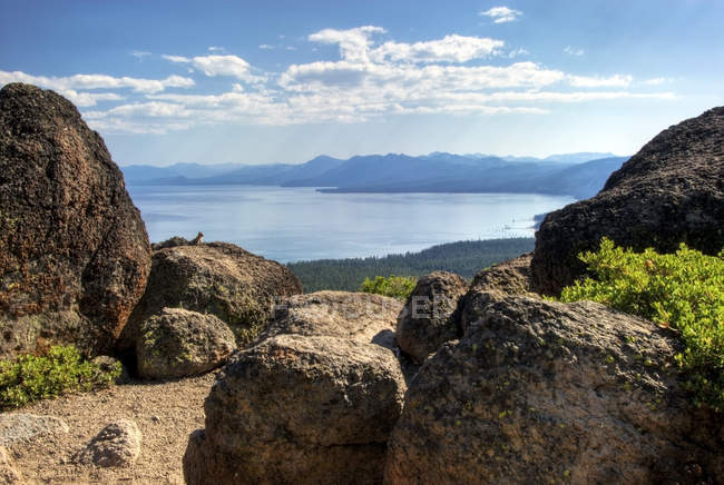 Lake Tahoe on Tahoe Rim Trail — Stock Photo