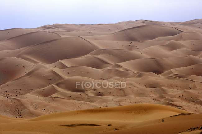 Belas dunas de areias deserto de Dubai, Dubai, Emirados Árabes Unidos, Médio Oriente — Fotografia de Stock