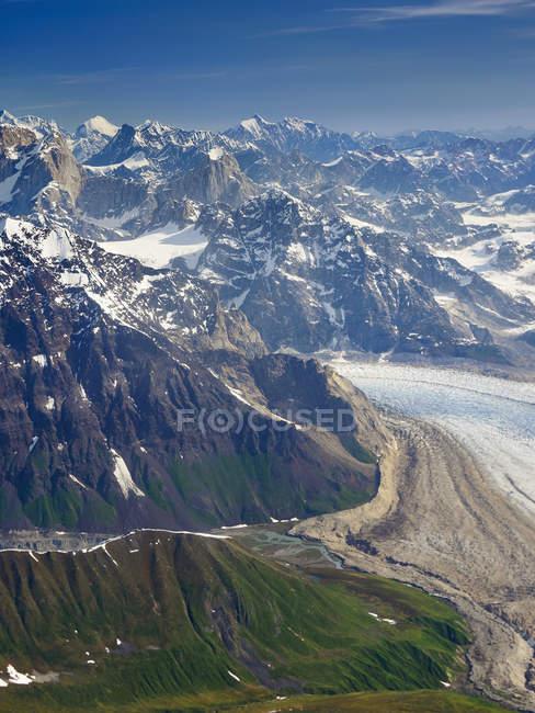 Paisagem de montanha no Parque Nacional Denali, Alasca — Fotografia de Stock