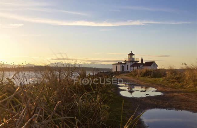 Відкриття парк маяк на захід сонця, держава Сіетл, Вашингтон, США — стокове фото