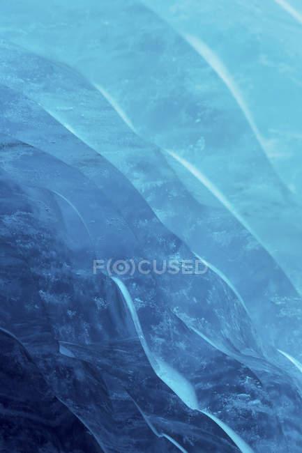 Fine dettagliata in su sfondo vista del ghiacciaio ghiaccio — Foto stock