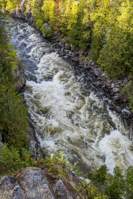 Scenic view of Ripogenious gorge on Penobscot River, Maine — Stock Photo
