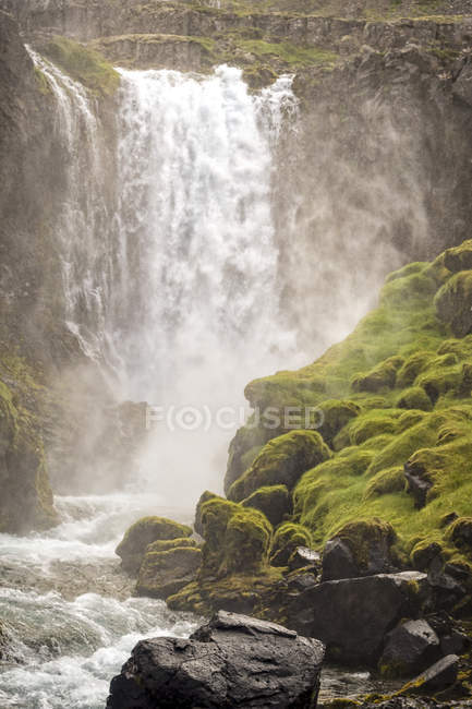 Scenic View Of Dynjandi Waterfall In Iceland — Stock Photo